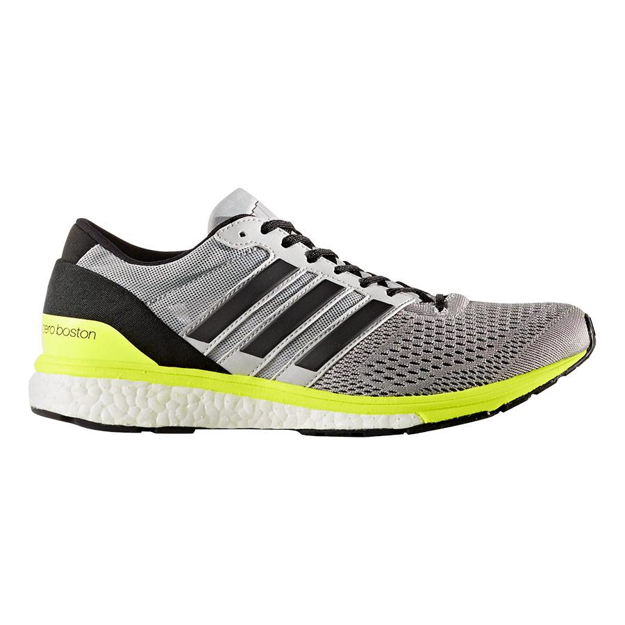 Zapatillas adidas Adizero Boston 6 gris negro amarillo mujer