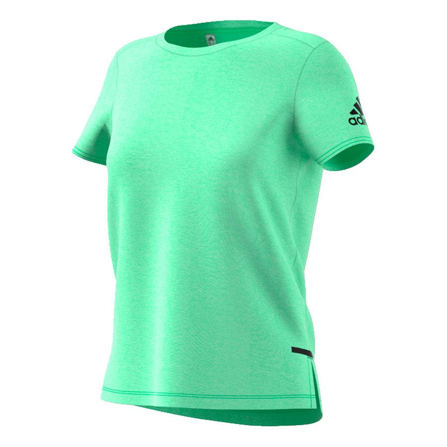 camiseta verde mujer adidas