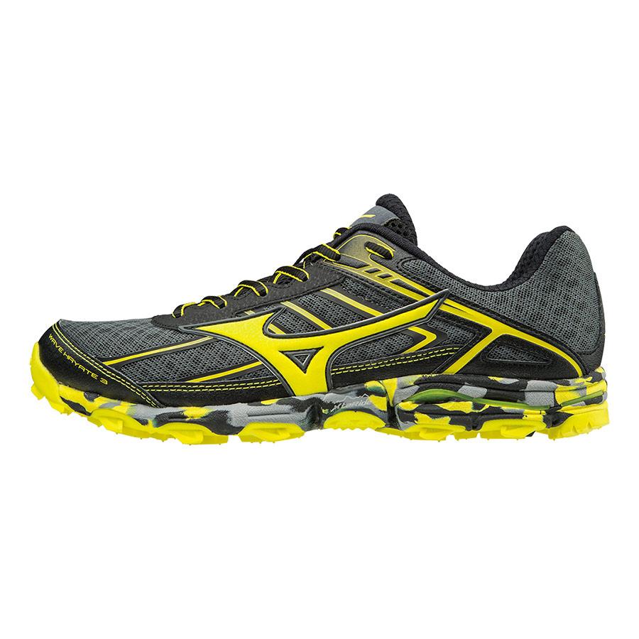 Zapatillas Mizuno Wave Hayate 3 gris negro amarillo