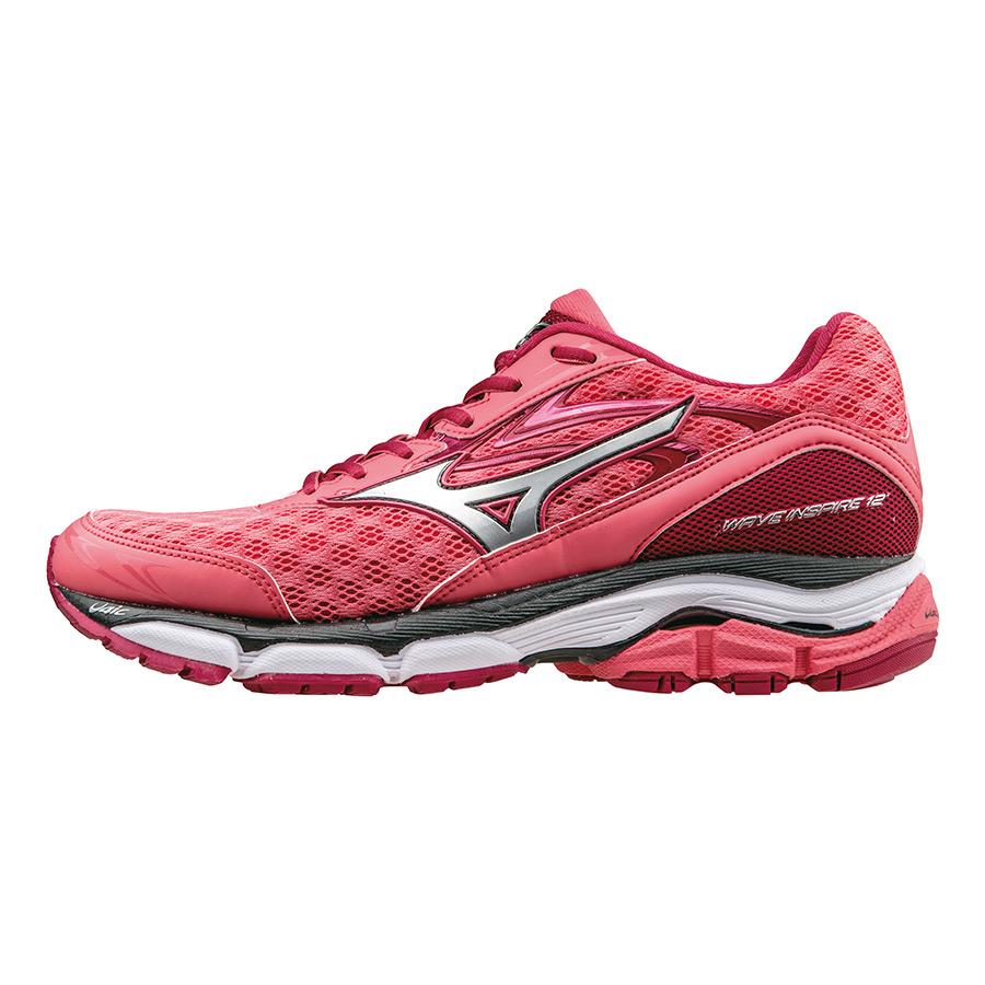 Zapatillas Mizuno Wave Inspire 12 rosa rojo mujer