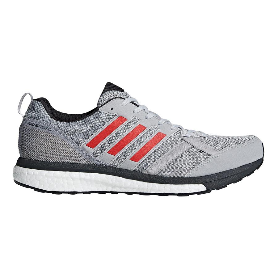 size 40 3536c a40cc Zapatillas adidas Adizero Tempo 9 gris rojo