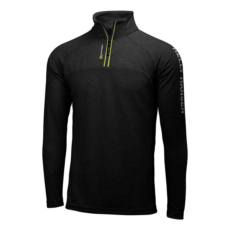 sweat shirt helly hansen hp 1 2 zip noir deporvillage. Black Bedroom Furniture Sets. Home Design Ideas