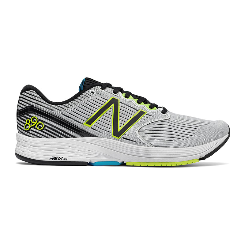 Zapatillas New Balance 890 V6 blanco gris amarillo