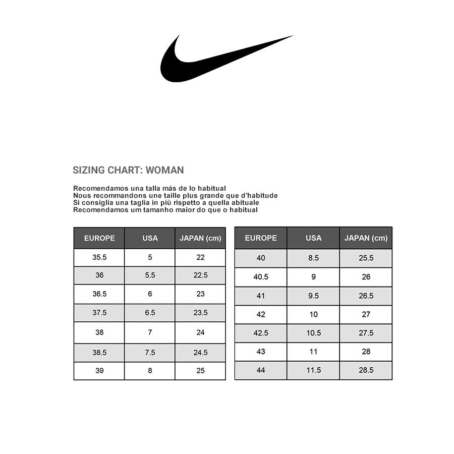 Para Guia Tallas Nike Mujer Ordcxweb De kiuOXPZ